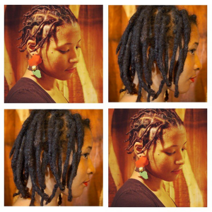 Before and After results of growing thicker locs using the 5 tips