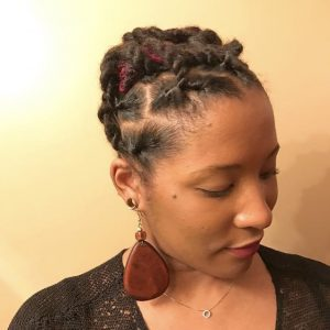 Hairstyle For Short Locs