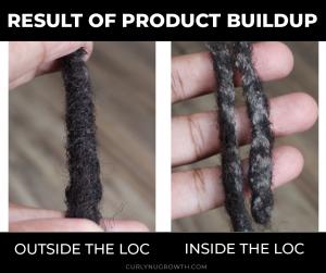 Product Buildup In Locs