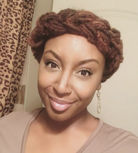 Halo Braid Hairstyle for Locs