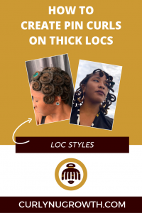 How To Create Pin Curls On Thick Locs
