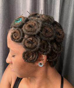 Pin Curls on Locs